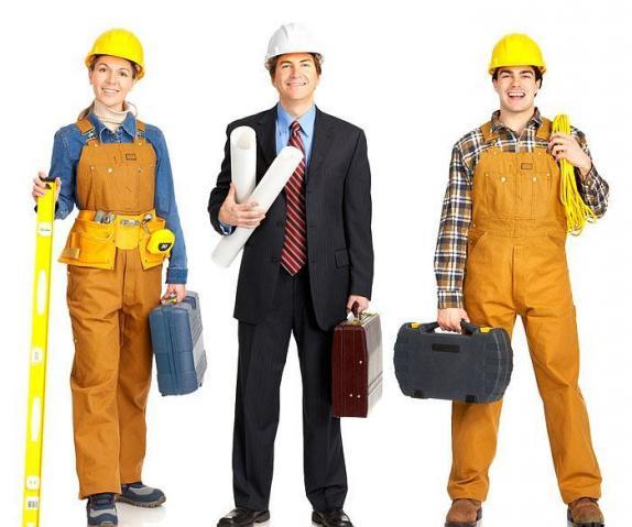слесари, электрики, работники сантехнической области
